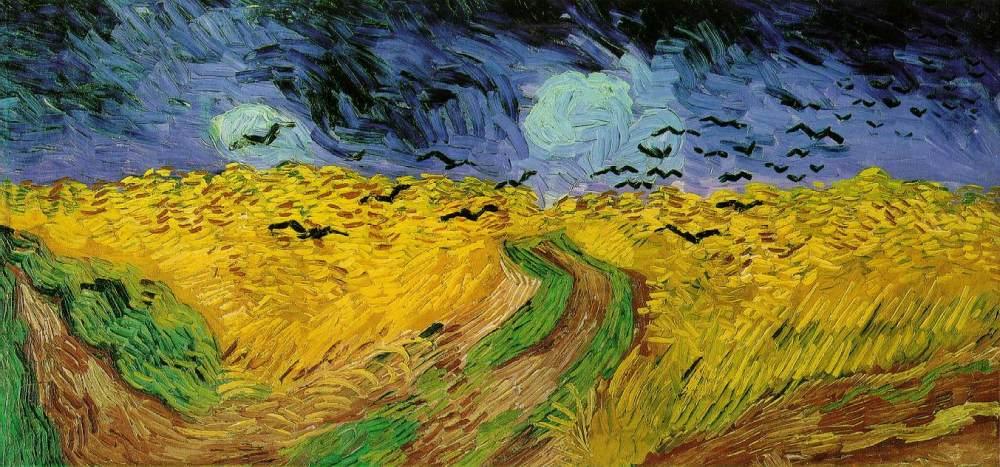vincent van gogh 'vetefält med kråkor (1890)