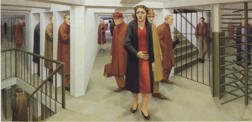 george tooker 'the subway'