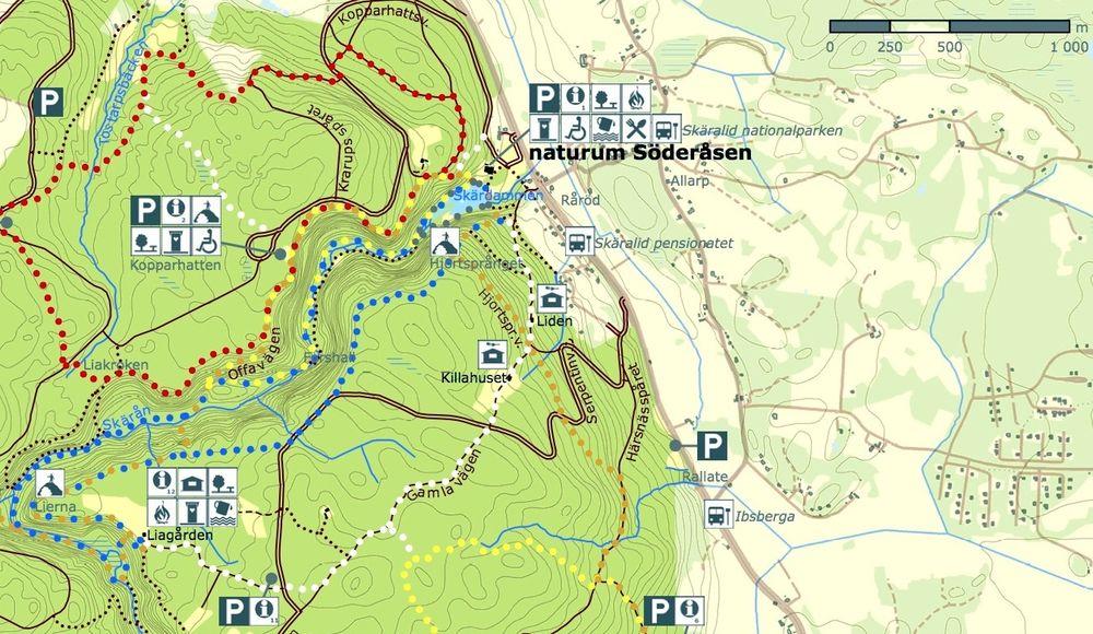 vandringskarta söderåsen skäralid