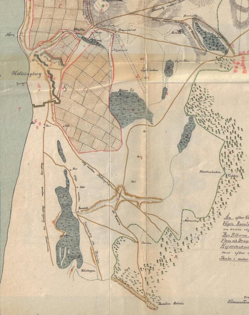 historisk karta helsingborg